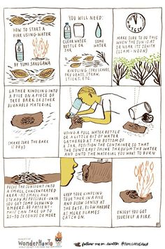 Essential Survival Skills and Tools - Imgur - How to start a fire using water