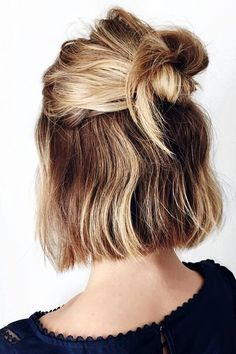 10 Cute Easy Hairstyles To Try In  - 26 #ShortHairstyles