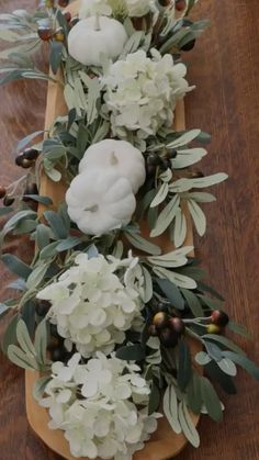 Whether you are crafty or not this DIY fall decor centerpiece is an easy design that will be the talk of the party. Thanksgiving Diy, Thanksgiving Table Settings, Thanksgiving Decorations, Fall Table Centerpieces, Floral Centerpieces, Fall Table Decorations, Tall Centerpiece, Wooden Dough Bowl, Deco Table