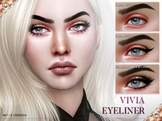 The Sims Resource: Vivia Eyeliner N67 by Pralinesims • Sims 4 Downloads