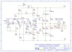 Diy Amplifier, Simple Circuit, Audio, Circuit Diagram, Electronics Projects, Board, Printed Circuit Board, Printed Circuit Board, Tecnologia