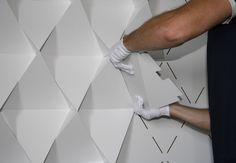modular, recyclable wall textural treatment | Geomatrix surface design system by MADE BY SUPERIOR