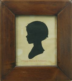 Silhouettes - Antique Silhouette of Toddler - Peggy McClard Antiques - Americana & Folk Art
