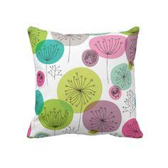 Cute owl retro pattern flower design throw pillows $63.95