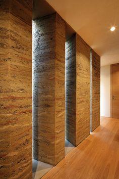 Walls Inside Contemporary House in Austria designed by Aicher Ziviltechniker GmbH