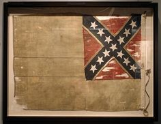 This flag was captured from the Confederate ironclad ship CSS Tennessee at the end of the battle of Mobile Bay August 1864