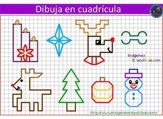 Risultati immagini per dibujos en cuadricula Geo Board, Pixel Drawing, Graph Paper Art, Back Stitch, School Resources, Rangoli Designs, Cross Stitch Designs, Math Activities, Pattern Art