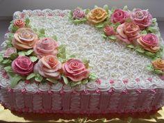 Best Birthday Girl Cake Buttercream Tips Ideas Gorgeous Cakes, Pretty Cakes, Cute Cakes, Cake Icing, Buttercream Cake, Cupcake Cakes, Birthday Sheet Cakes, Birthday Cake Girls, Sheet Cake Designs