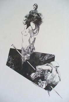 Sergio Toppi - Illustration (Giuditta e Oloferne) Comic Art