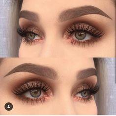 Trend Alert: Bronziertes Augen Make-up - bronze eyeshadow Skin Makeup, Eyeshadow Makeup, Beauty Makeup, Eyeliner, Makeup Style, Eyeshadows, Eyebrow Makeup, Brows, Makeup Trends