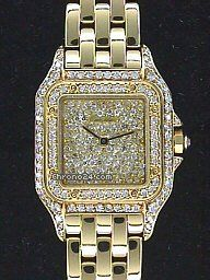 Cartier Diamond Panther price on request #Cartier #watch #watches #chronograph Lady's 18K Yellow Gold Cartier Diamond Panther
