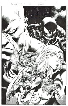 ungoliantschilde:  some more art by Ed McGuinness in black and...