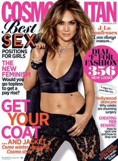 Jennifer Lopez in Cosmopolitan UK Magazine, November 2013.