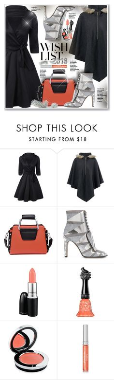 """""""#PolyPresents: Wish List"""" by sneky ❤ liked on Polyvore featuring Sergio Rossi, MAC Cosmetics, Anna Sui, Rodial, Sisley, Transparente, contestentry and polyPresents"""