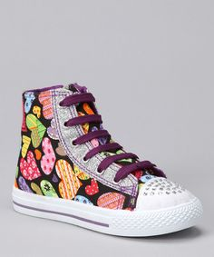 Take a look at this Black Heart Katy Hi-Top Sneaker by QQ Girl on #zulily today!