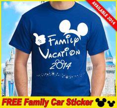 2014 DISNEY FAMILY VACATION T-SHIRTS - ROYAL BLUE  #ManyUSbrands #ShortSleeve