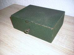 Geldkassette Kassette DDR Metall mit Schlüssel