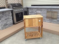 Patio Ice Chest with a 48qt cooler inside  You can message me for dimensions if interested in building one.  Jerry