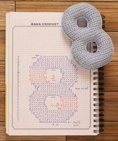 Crochet Letters Pattern, Crochet Alphabet, Letter Patterns, Crochet Patterns, Crochet Amigurumi, Amigurumi Doll, Crochet Dolls, Crochet Game, Love Crochet