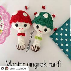 ( ・・・ Günaydıın❤️ Çok tatlı b… - Amigurumi Models Easy Crochet Patterns, Baby Knitting Patterns, Loom Knitting, Free Knitting, Free Crochet Bag, Crochet Bunny, Crochet Toys, Crochet Disney, Baby Rattle