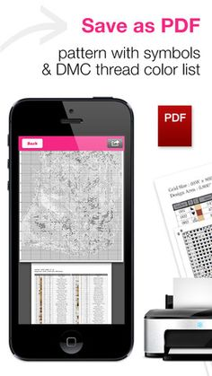The world's first iPhone Cross-Stitch Pattern App. Now photograph anything… Cross Stitch Pattern Maker, Cross Stitch Charts, Cross Stitch Patterns, Cross Stitching, Cross Stitch Embroidery, Pattern App, Sewing Hacks, Sewing Projects, Snitches Get Stitches