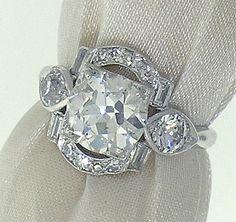 Stunning Original Art Deco Ring 192cts EGL by myvintagediamondring