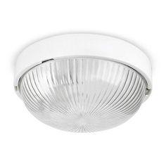 Ip44 Modern Gloss White Round Flush Bathroom Ceiling Bulkhead Light Lights