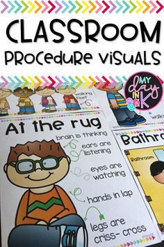 Classroom Procedure Visuals are such a handy tool to have when you are teaching, modeling, and revie Kindergarten Classroom Management, Classroom Procedures, Classroom Rules, Classroom Behavior, Classroom Setup, Classroom Design, Preschool Classroom, Future Classroom, In Kindergarten
