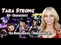 Tara Strong, Voice Actor, Movies And Tv Shows, The Voice, Characters, Actors, Celebrities, Youtube, Art