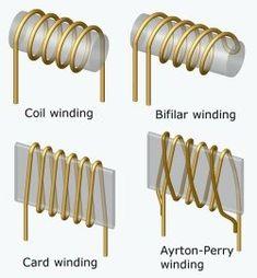 Several methodes of coiling for shunt resistors.