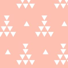 Coral teepee fabric by >>mintpeony<< on Spoonflower - custom fabric