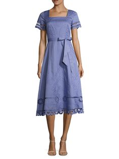 Bellanca Embroidered A Line Dress by Temperley London at Gilt