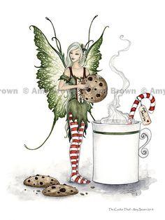 Amy Brown Christmas fairy