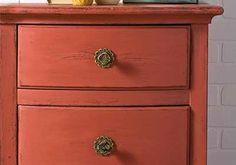 Salmon Dresser - restored with the FolkArt Home Decor Chalk #diy