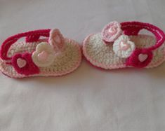 Crochet Baby Girl Sandals Baby Girl Shoes Baby by MarilynsCreation