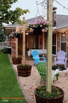 Small Backyard Patio, Backyard Patio Designs, Pergola Patio, Diy Patio, Pergola Kits, Pergola Ideas, Outdoor Ideas, Wood Patio, Backyard Shade
