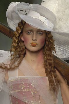 Christian Dior Fall Couture 2005    Galliano's tour through the Christian Dior archives led Pat McGrath on a historical makeup journey.
