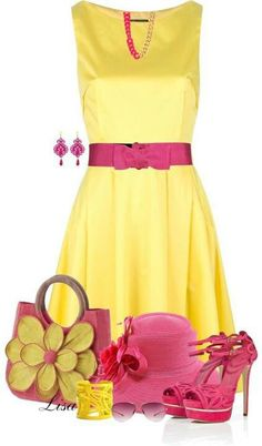 Yellow and pink is pretty together