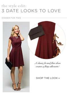 The Style Edit: Three Date Looks to Love Pantone Color of the Year 2015 Marsala