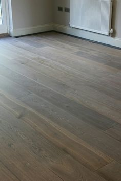 These beautiful medium fumed grey oak is from a Dutch manufacturer. Each plank has been treated to give this brilliant grey/brown wash-effect. Grey Oak, Brown And Grey, Bathroom Flooring, Plank, Dutch, Hardwood Floors, Smoke, Flooring Ideas, Wood Floor Tiles