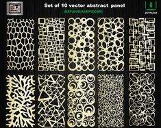 9 Pcs bundle partitions room divider files vector panel | Etsy Wood Panel Walls, Panel Wall Art, Wood Paneling, Room Divider Screen, Room Screen, Autocad, Laser Cnc Machine, Corte Plasma, Decorative Screen Panels