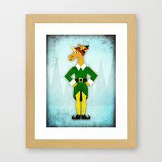 Elf Unicorn Framed Art Print