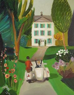 """""""Return to Hawthorne House."""" by Janet Hill"""