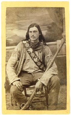 Yellowstone Kelly (circa 1870's) led an adventurous life to say the least. He was a scout, frontiersman, explorer, and Indian fighter. In the summer of 1899 he helped lead a high profile expedition to Alaska. -Courtesy Robert G. McCubbin, via True West Magazine