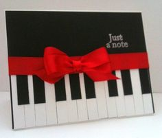 16 Ideas for music note cards piano keys Handmade Greetings, Greeting Cards Handmade, Hand Made Greeting Cards, Cute Cards, Diy Cards, Musical Cards, Handmade Birthday Cards, Creative Cards, Scrapbook Cards