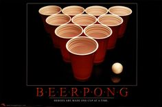 Beer Pong - not sure how I could forget this as a party game... probably because its been so long since i've played it