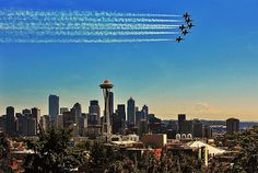 Blue Angels over Seattle.  Photo by Benjamin Yeager.