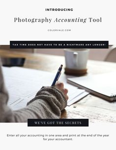 Photography Accounting Tool Tax time does not have to be a nightmare any longer! Colorvale has devel Diy Backdrop Stand, Photography Backdrop Stand, Hobby Photography, Book Photography, Photography Lessons, Photography Editing, Photography Business, Photo Editing, Photography Articles