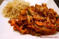 Spicy Squid BokkEum | Aeri's Kitchen | Cooking Korean Recipes & Food