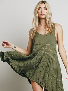 Free People Voile and Lace Trapeze Slip, $88.00 UGHHH I want this dress in black SO. BAD. And there's a free people store within 20 minutes of my apartment. Ughhhhhhhh. Neeeeeedddd